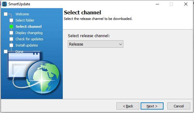 SmartUpdate - Release channel
