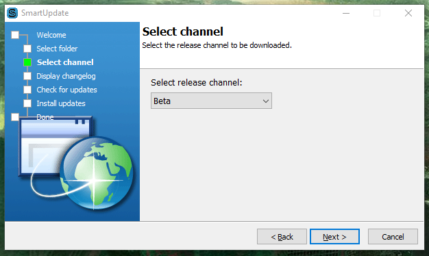 In newer versions of SMS you dont need to download a new installer